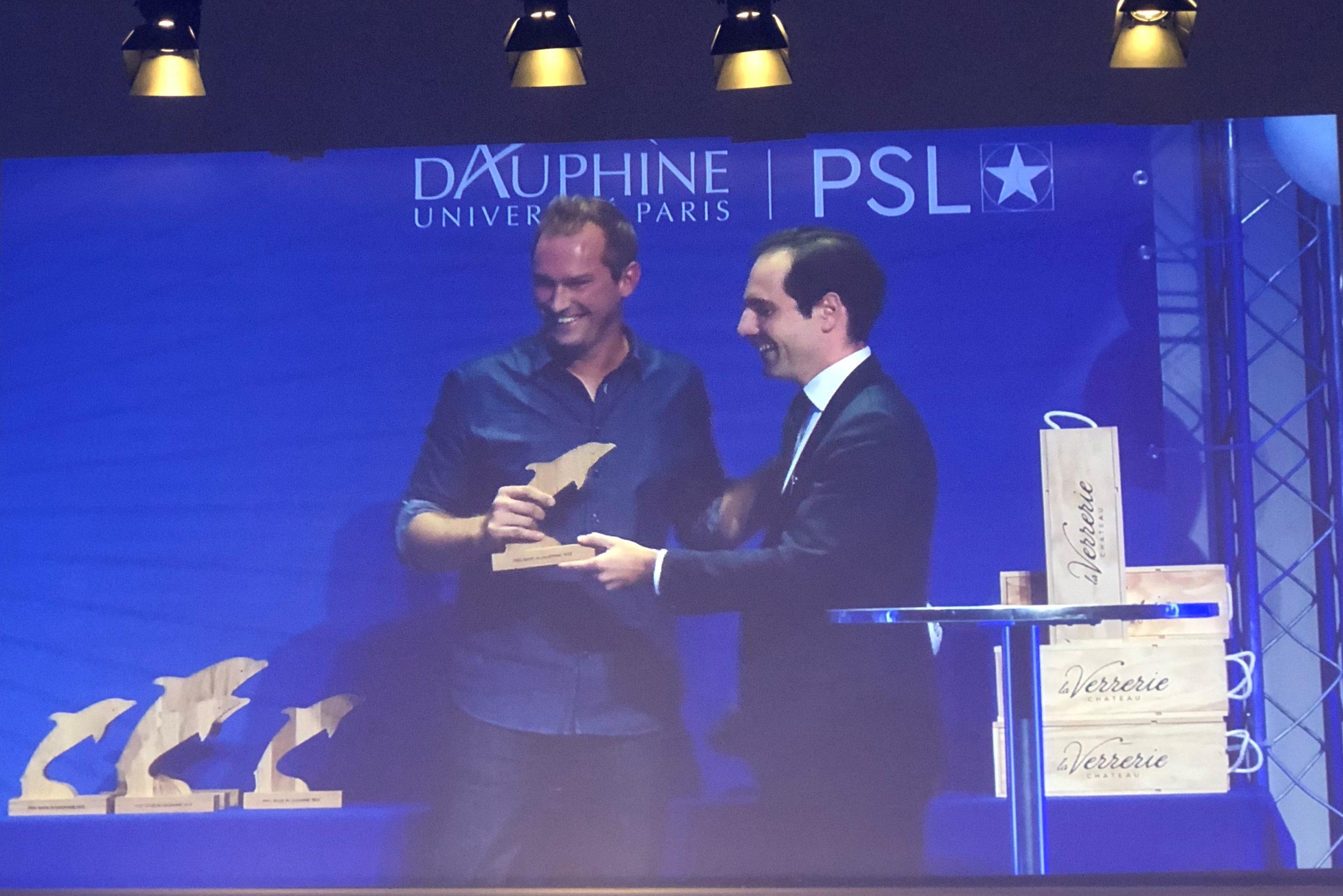 Thibault Lamarque, prix Dauphine