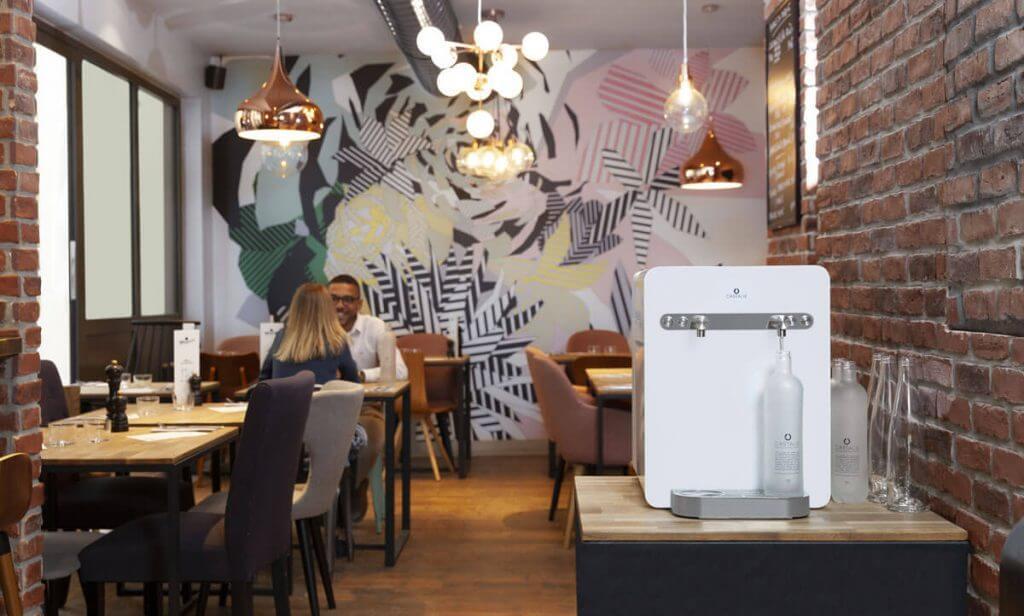Fontaine à eau microfiltrée CASTALIE pour restaurant