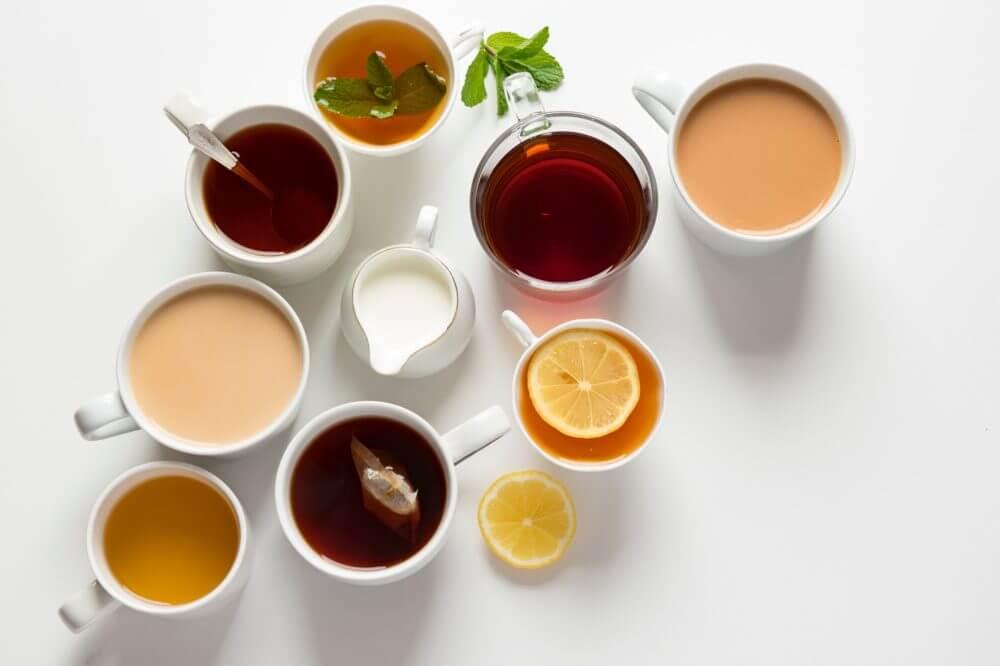 Thé, fontaine à eau chaude