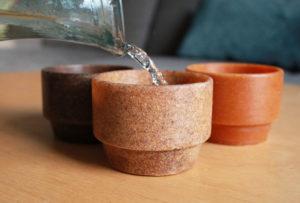 Tasses Repulp en peaux d'oranges