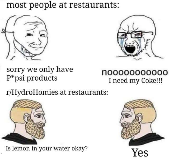 coca vs eau