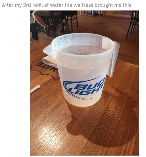 broc d'eau XXL
