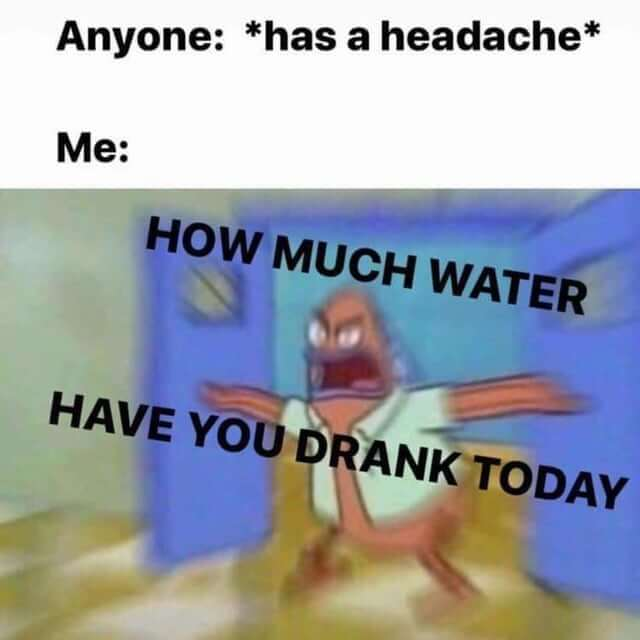 eau et mal de tête