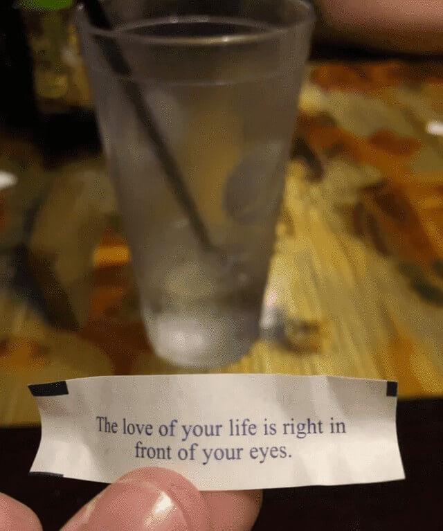 message de fortune cookie